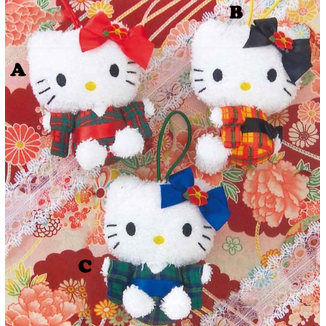 Plush keychain Hello Kitty Kimono Hello Kitty to Issho