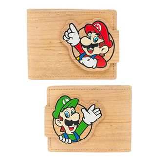 Cartera Super Mario Bros - Woodgrain Snap