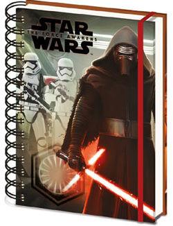 Libreta A5 - Star Wars Episode VII - Kylo Ren & Troopers