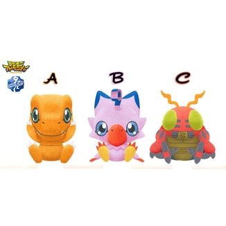 Plush doll Agumon, Biyomon & Tentomon  Digimon