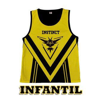 Camiseta Basket Pokemon GO - Team Instinct - Infantil