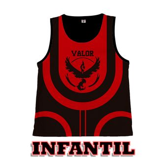 Camiseta Basket Pokemon GO - Team Valor - Infantil