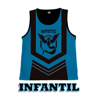 Camiseta Basket Pokemon GO - Team Mystic - Infantil