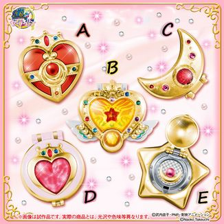 Gashapon Sailor Moon - Transformation Compact Mirror Set 2