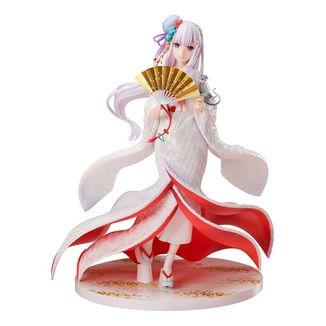 Figura Emilia Shiromuku Re Zero F Nex