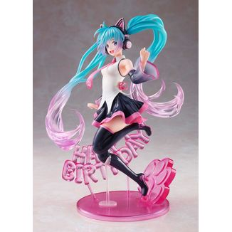 Hatsune Miku Birthday 2021 Happy Cat Figure Vocaloid