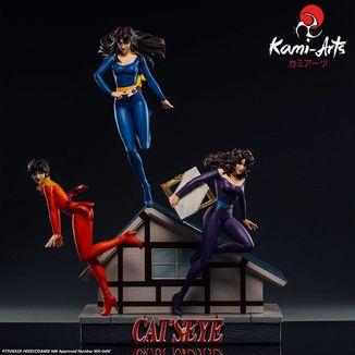 Estatua Rui Ai y Hitomi Kisugi Cats Eye