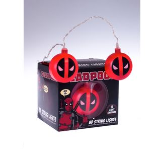 Luces Deadpool Logo Marvel Comics 3D