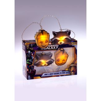 Luces Rocket Raccoon & Groot 2D String Lights