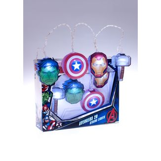 Luces Vengadores Logo Marvel Comics 2D String Lights
