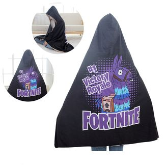 Blanket with Hoodie Llama Fortnite