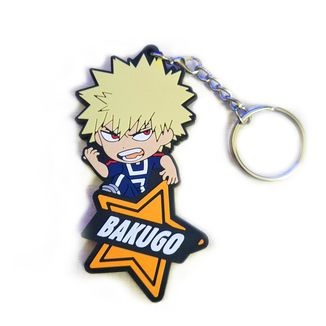 Bakugou Katsuki Rubber Keychain My Hero Academia
