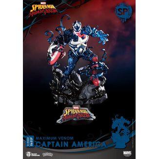 Figura Capitan America Marvel Comics Maximum Venom Special Edition D-Stage