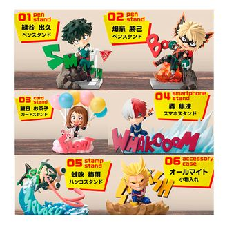 My Hero Academia Figures Desktop Heroes Set
