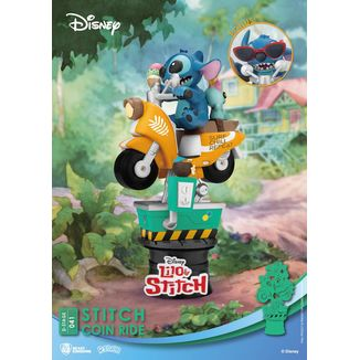 Figura Stitch Coin Ride Disney Series Diorama D-Stage