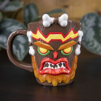 Uka Uka 3D Shaped Mug Crash Bandicoot