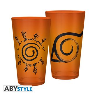 Konoha Naruto Shippuden Large Glass 400ml