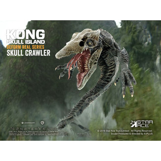 Figura Skull Crawler Deform Real Series Kong La Isla Calavera