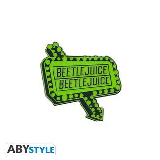 Beetlejuice Luminous Sign Pin
