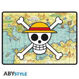 Alfombrilla Escritorio Calavera y Mapa One Piece 35 x 25 cms