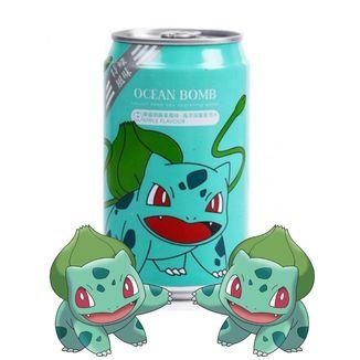 Refresco Pokemon Bulbasur Ocean Bomb Sparkling Water sabor manzana