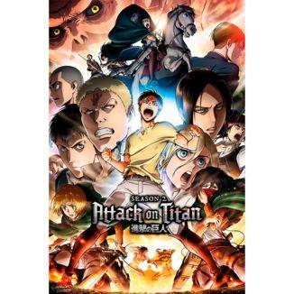 Poster Ataque a Los Titanes Temporada 2 91 x 61 cms
