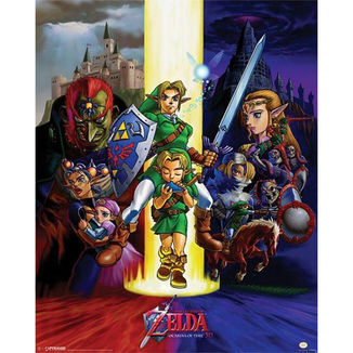 Poster The Legend of Zelda Ocarine of Time 40 x 50 cms