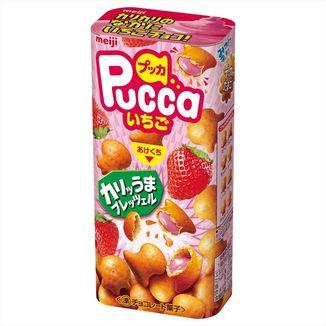 Pretzel de Fresa Pucca Meiji