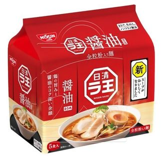 Ramen Noodles Raou with Nissin Soy Sauce (5 packs)
