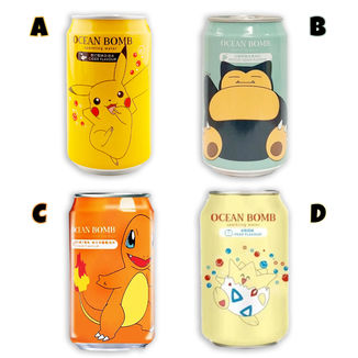 Pokemon Ocean Bomb Drink Sparkling Water - Cider - Grape - Orange - Pear