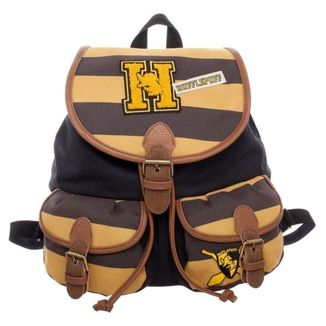 Mochila Hufflepuff Varsity Stripes Harry Potter