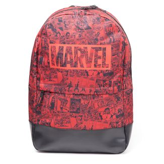 Mochila Marvel Comics Collage in Red