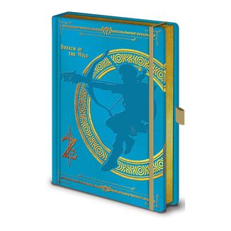 The Legend of Zelda Breath of the Wild Blue Notebook