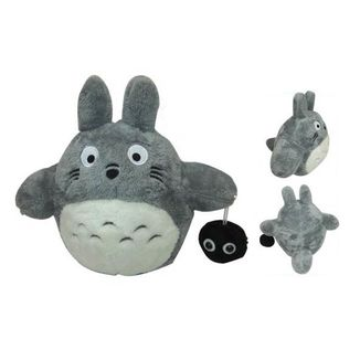 Totoro with Susuwatari Plush Doll My Neighbor Totoro 30 cms