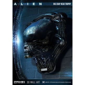 Estatua Big Chap Head Trophy Alien 3D Wall Art