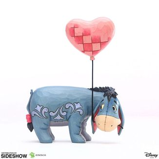 Eeyore with a Heart Balloon Statue Winnie the Pooh Disney