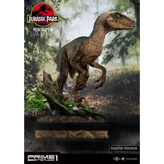 Velociraptor Closed Mouth Statue Jurassic Park