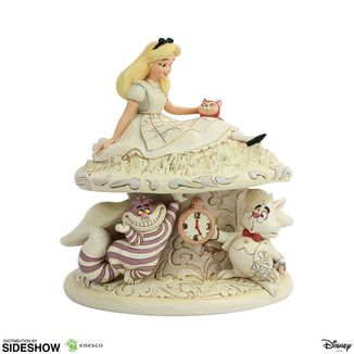 White Woodland Statue Alice in Wonderland Disney