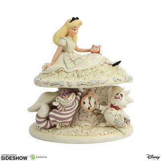Estatua White Woodland Alicia en el Pais de las Maravillas Disney