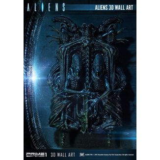 Aliens Statue 3D Wall Decoration