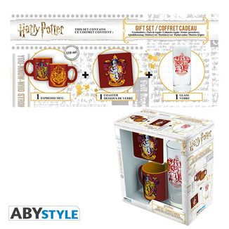 Gryffindor Pack Glass, Coaster and Mug Harry Potter