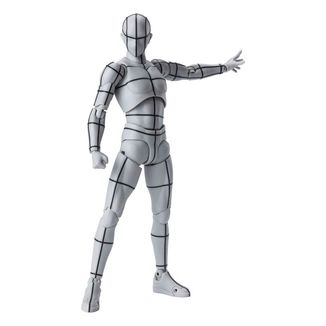SH Figuarts Body Kun Wireframe Gray Color Version