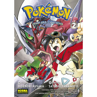 Pokemon Heart Gold y Soul Silver #02 Manga Oficial Norma Editorial