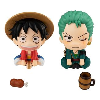 Figura Monkey D. Luffy & Roronoa Zoro One Piece Look Up Set With Gift