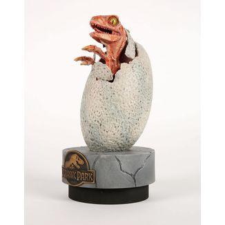 Estatua Raptor Hatchling Parque Jurasico