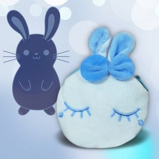 Blue Rabbit Plush Purse