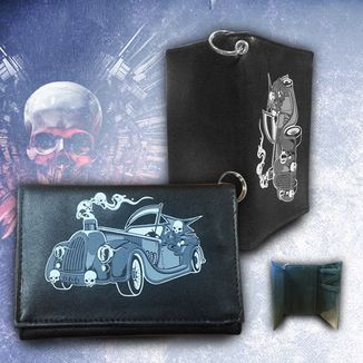 Death to the Wheel Wallet with chain