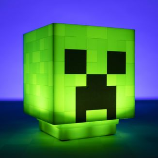 3D Creeper Head Lamp Minecraft