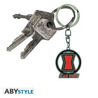 Black Widow keychain logo Marvel Comics