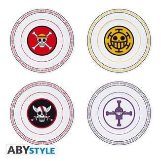 One Piece Pirates Flags Plates